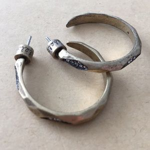 Chloe and Isabel brass and pave hoop earring